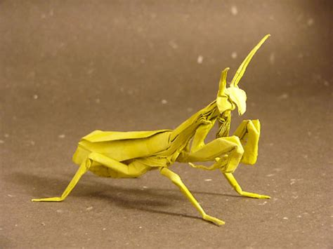 Origami Mantis - paper animal farm origami animal creations pix o plenty