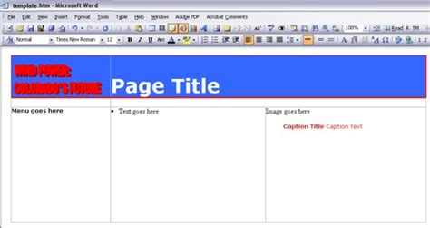 definition layout page creating define a basic layout for your pages