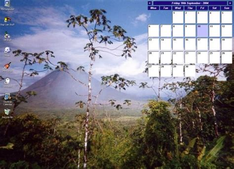 Desktop Calendar Windows Desktop Calendar A Simple Calendar That Sits Directly On