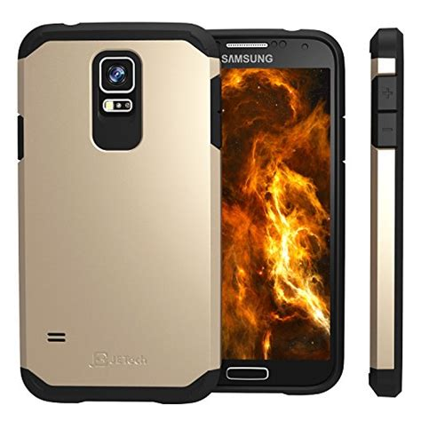Coque Samsung S5 Jetech by Jetech 3012 Cs Tpu Pc S5 Cg Cover Nero Chagne Oro Custodia Per Cellulare Custodie