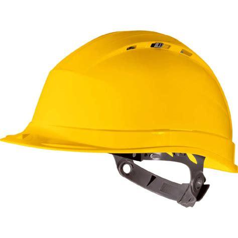 Helm Safety Deltaplus Venitex vente de casque de chantier jaune avec coiffe de serrage par glissire de la marque protection de