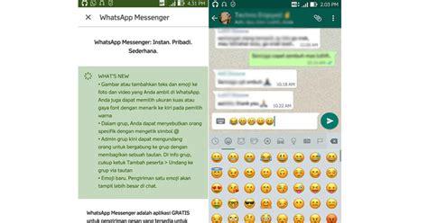 emoji baru whatsapp tilan emoji di whatsapp versi terbaru kini lebih besar