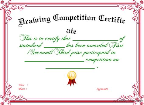 certificate design for drawing competition pdf certificate template certificate of appreciation