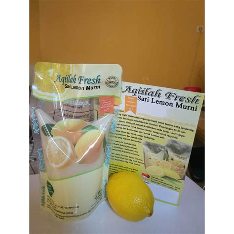 Perasan Lemon Murni Aqiilah Fresh 500ml sari lemon murni slimming detox drink aqiilah fresh elevenia