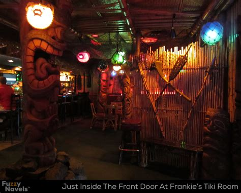 frankies room carved wood tikis fill frankie s tiki room in vegas fuzzy navels