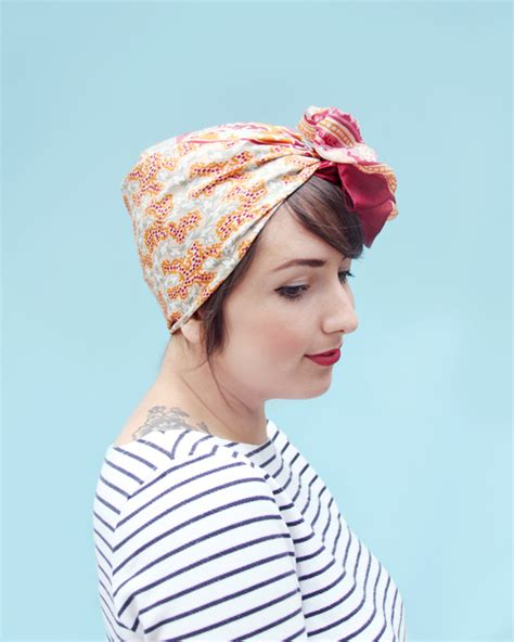 how to tie a headscarf like a vintage babble