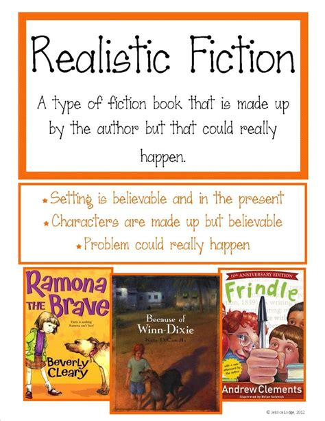 realistic fiction picture books realistic fiction poster library displays