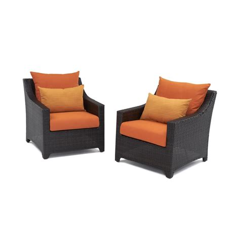 Shop Rst Brands Deco 8 Rst Brands Deco Patio Club Chair With Tikka Orange