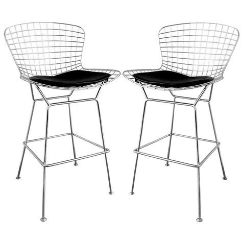 Mesh Bar Stools by Baxton Studio Tomkin Mesh Bar Stools With Leatherette