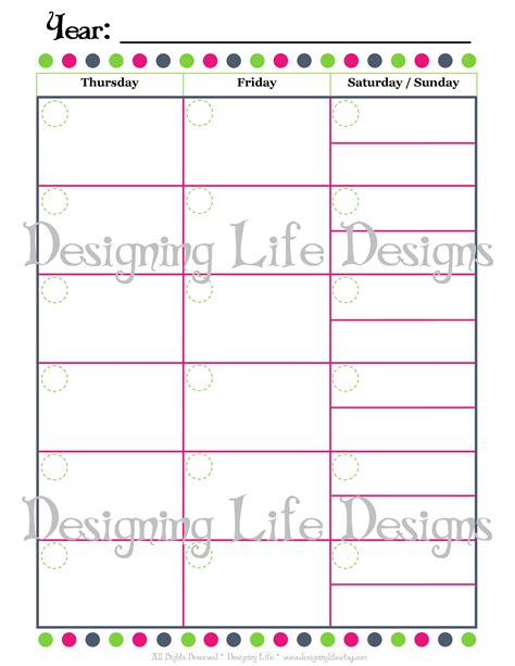 7 best images of two page monthly calendar printable 2
