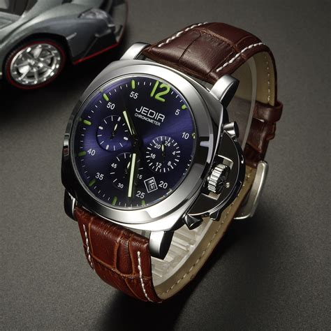 jedir casual genuine leather luxury watches