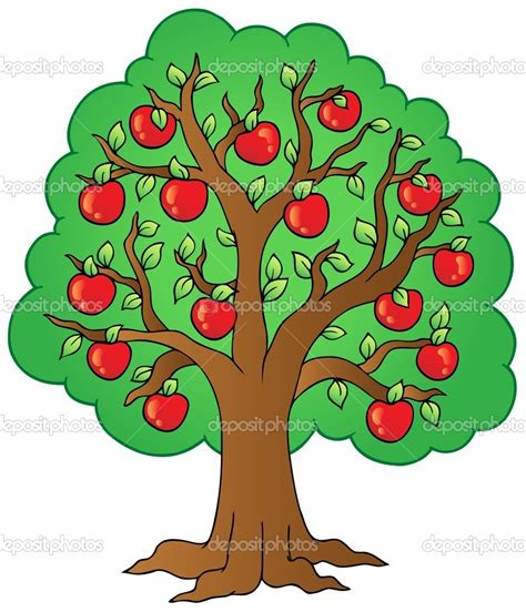 comic tree apple tree stock clipart panda free clipart