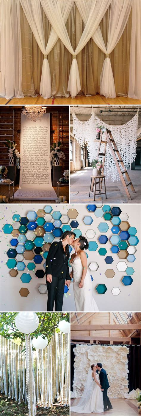 easy diy wedding ceremony decorations top 20 unique backdrops for wedding ceremony ideas