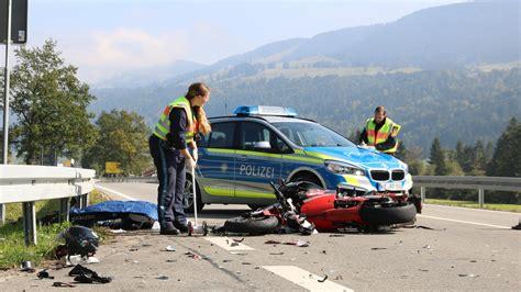 Motorradunfall Oberstaufen by T 246 Dlicher Motorradunfall Im Allg 228 U Deutschland Vol At