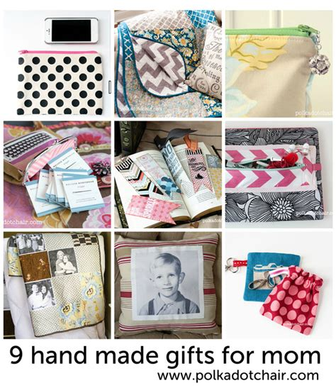 Handmade Mothers Day Presents - ideas for handmade s day gifts from the polka dot chair