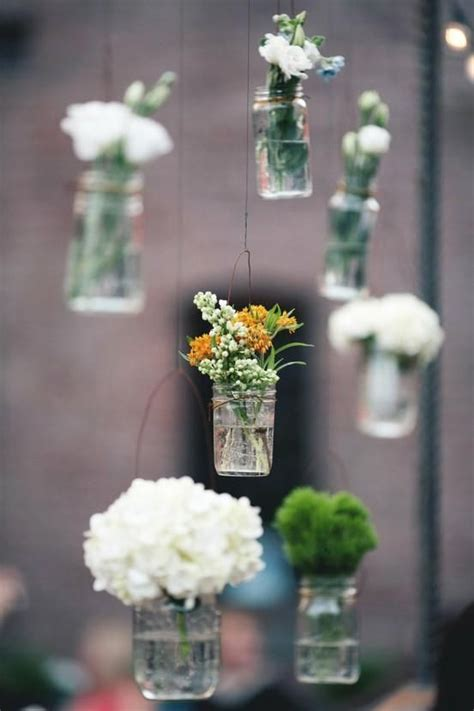 hanging flower vases wedding simple hanging jar vases what i