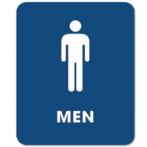 men bathroom logo ada compliant mens restroom sign