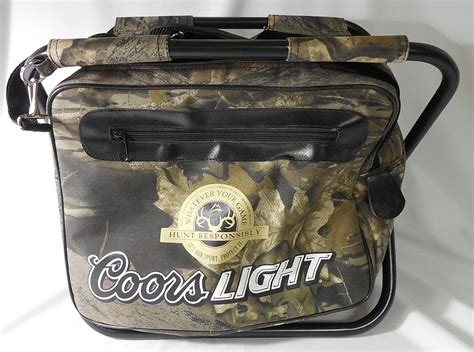 coors light cooler bag coors light quot hunt responsibly quot collapsible cooler chair