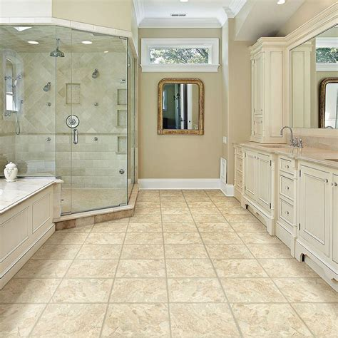 allure bathroom flooring trafficmaster allure in x in sedona vinyl tile flooring