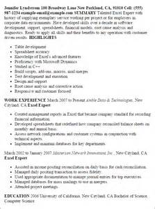 Exle Finance Resume by Professional Excel Expert Templates To Showcase Your Talent Myperfectresume