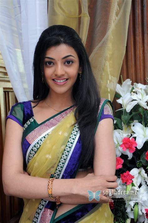 cinema 21 india kajal agarwal with yellow saree salambarishal
