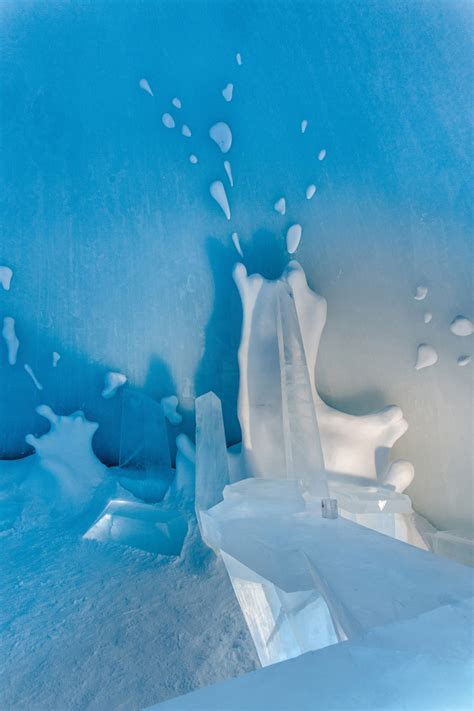 designboom icehotel global designers form hotel s 25th annual icebar as an