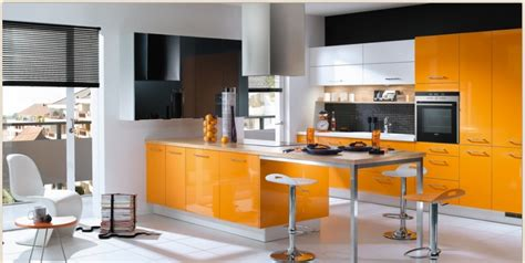 design kitchen orange kitchens