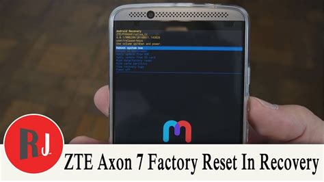 reset android recovery how to factory reset the zte axon 7 in stock android