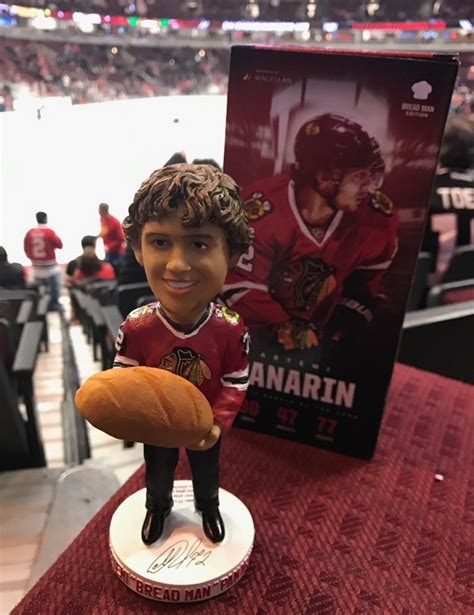 Chicago Blackhawks Giveaways 2017 18 - december 18 2016 chicago blackhawks artemi panarin quot breadman quot bobblehead