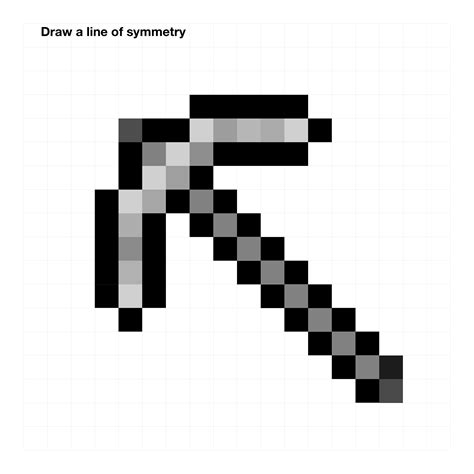 Minecraft Papercraft Black And White - minecraft pickaxe and sword in black and white pictures to