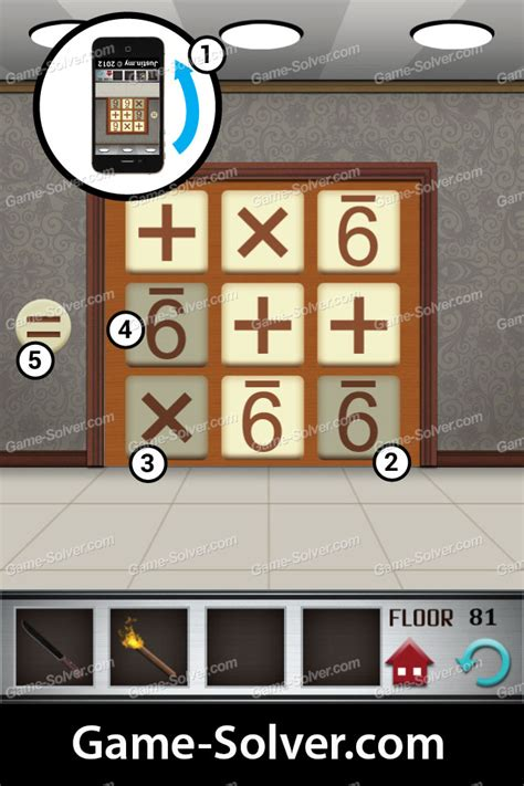 100 Floors Level 5 Solutions - 100 floors level 81 solver