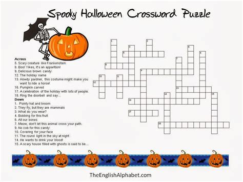 printable halloween puzzle games 5 new halloween crossword puzzles printable easy