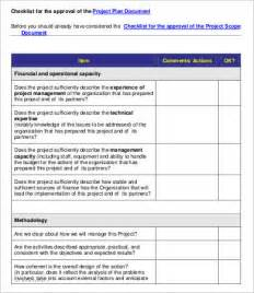 project evaluation checklist template 7 free word pdf