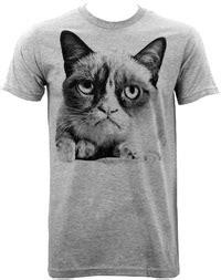 grumpy cat black and white grumpy cat black and white photo grey t shirt medium