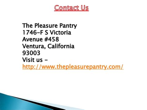 The Pleasure Pantry by The Pleasure Pantry