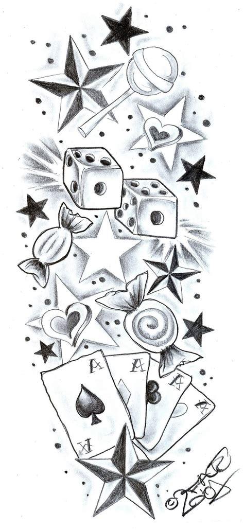 rose and star tattoo designs tattoodesign sweetscherrystars by 2face on deviantart