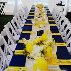 yellow wedding decorations navy and yellow reception decor