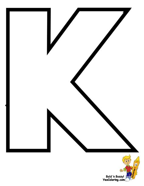 Letter K Coloring Page free coloring pages of large letter k