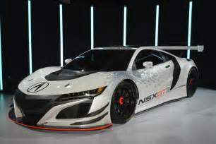 acura unveils nsx gt3 race car in new york that is to be