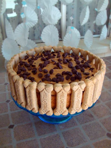 puppy cake recipe banana carob oat cake with peanut butter frosting baked by joanna