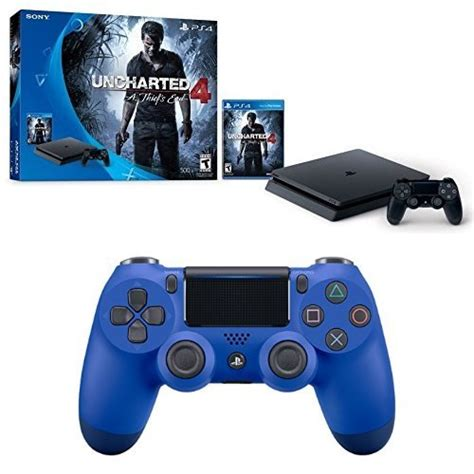 Sony Playstation 4 Ps4 Free Uncharted playstation 4 slim 500gb uncharted 4 console controller bundle