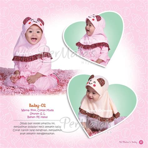 Jilbab Untuk Bayi 9 Bulan Permata Baby Uk L Jilbab Anak Bayi Balita Usia