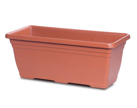 Rectangular Terracotta Planters by Crescent Garden Rectangular Planters