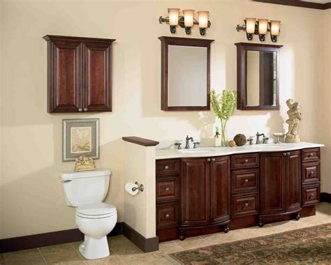 Wood Bathroom Storage Cabinets Cherry Wood Bathroom Cabinets Home Furniture Design