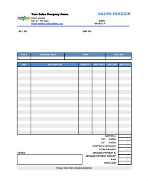 sample payment invoice forms 7+ free documents in word, pdf