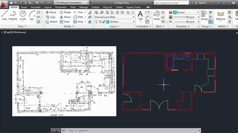 Sample Home Floor Plans by Creating An Architectural Drawing With Autocad 2013