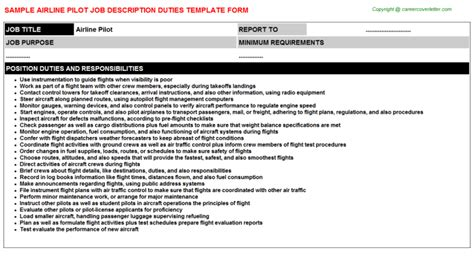 Pilot Description by Airline Pilot Title Docs