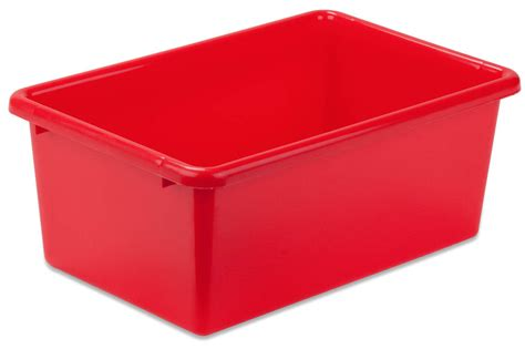organization bins small red plastic storage bins prt srt1602 smred ebay