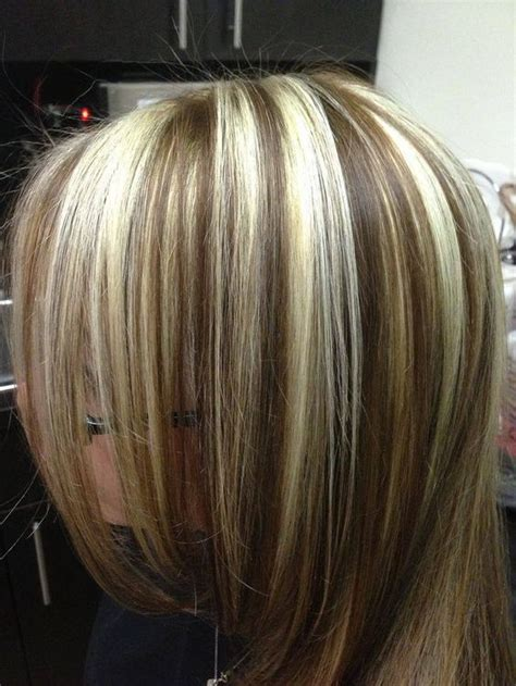 lowlights in bleach blonde hair chunky highlights and lowlights bleach blonde hair with