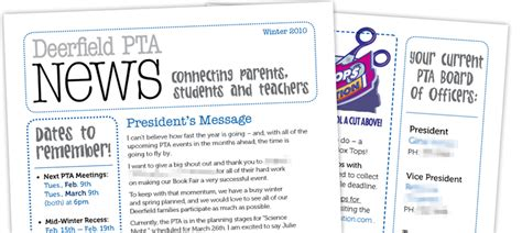 pta newsletter templates pta newsletter local elementary school dzinermom
